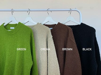 HUE Sweaters Unisex Street Style Collaboration Long Sleeves Plain 17