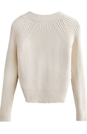 Cable Knit Short Casual Style Wool Nylon Faux Fur