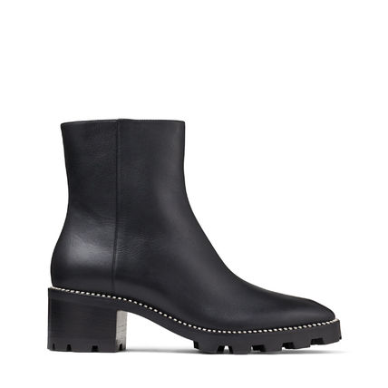 Jimmy Choo Rubber Sole Casual Style Street Style Plain Leather