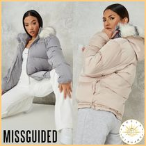 Missguided Street Style Plain Medium Icy Color Down Jackets