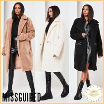 Missguided Casual Style Street Style Plain Long Oversized Wrap Coats