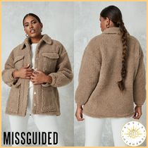 Missguided Short Casual Style Street Style Plain Shearling Jackets