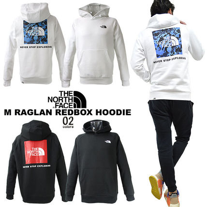 THE NORTH FACE Hoodies Pullovers Unisex Street Style Long Sleeves Cotton Oversized