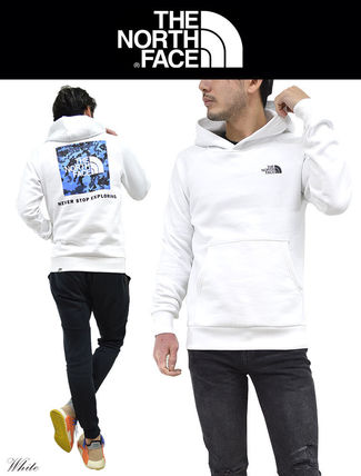 THE NORTH FACE Hoodies Pullovers Unisex Street Style Long Sleeves Cotton Oversized 4