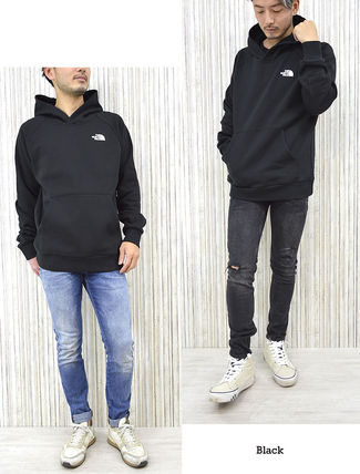 THE NORTH FACE Hoodies Pullovers Unisex Street Style Long Sleeves Cotton Oversized 6