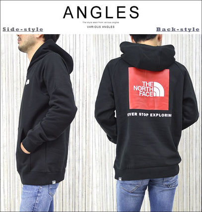 THE NORTH FACE Hoodies Pullovers Unisex Street Style Long Sleeves Cotton Oversized 8