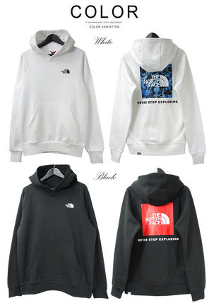 THE NORTH FACE Hoodies Pullovers Unisex Street Style Long Sleeves Cotton Oversized 9