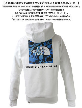 THE NORTH FACE Hoodies Pullovers Unisex Street Style Long Sleeves Cotton Oversized 10