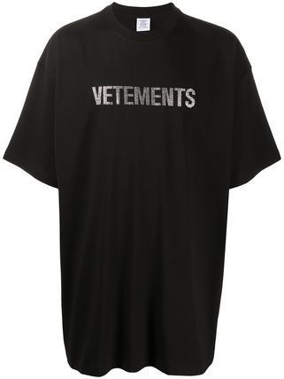 VETEMENTS More T-Shirts Unisex Street Style Plain Cotton Short Sleeves Logo T-Shirts