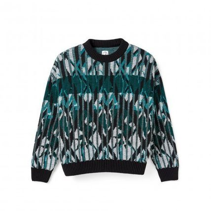 Street Style Long Sleeves Skater Style Sweaters
