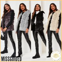 Missguided Casual Style Blended Fabrics Street Style Fur Vests