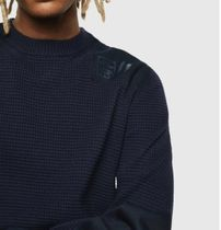 DIESEL Sweaters Crew Neck Pullovers Long Sleeves Plain Cotton Logo Sweaters 9