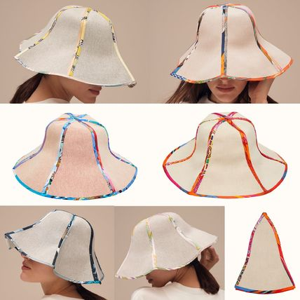 HERMES petit h PetitH: Canvas and silk hat(59)H1075008 92