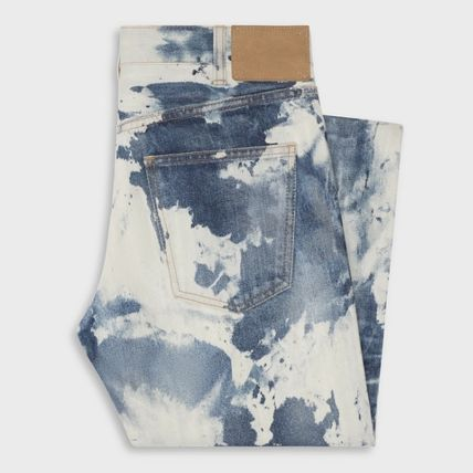 CELINE More Jeans Printed Pants Camouflage Denim Street Style Asymmetry Jeans 3
