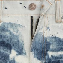 CELINE More Jeans Printed Pants Camouflage Denim Street Style Asymmetry Jeans 5