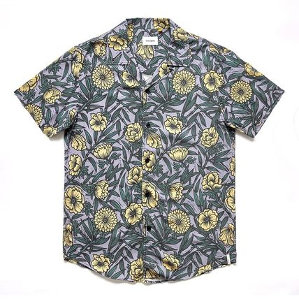 Button-down Street Style Short Sleeves Surf Style Shirts