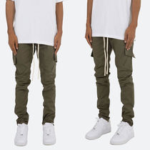 MNML Tapered Pants Camouflage Street Style Plain Cotton