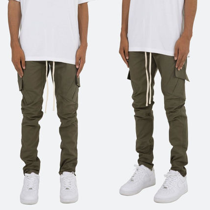 MNML Tapered Pants Camouflage Plain Cotton Street Style
