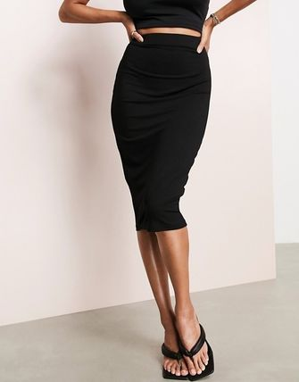 ASOS Pencil Skirts Casual Style Plain Medium Office Style