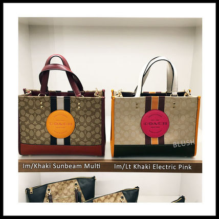 Monogram Casual Style 2WAY Leather Office Style