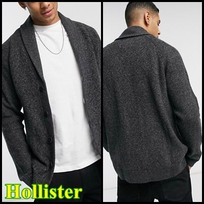 Hollister Co. Cardigans Street Style Plain Front Button Cardigans