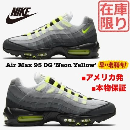 Nike AIR MAX 95 Unisex Street Style Plain Logo Sneakers