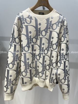 Christian Dior Oversized Reflective Dior Oblique Sweater