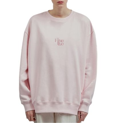 Fine The Sweatshirts Unisex Street Style U-Neck Long Sleeves Cotton Oversized 2