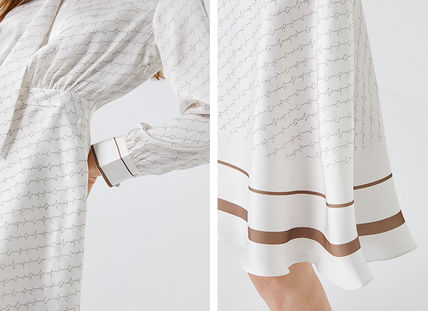 Casual Style Flared Long Sleeves Long Party Style