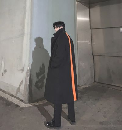 ASCLO Street Style Plain Long Oversized Chester Coats