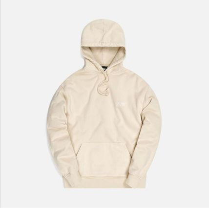 KITH NYC Pullovers Street Style Long Sleeves Plain Cotton Logo