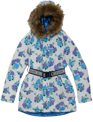 Flower Patterns Casual Style Faux Fur Jackets