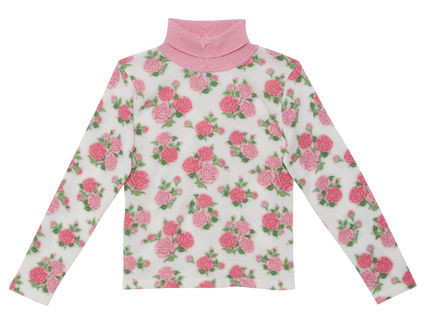 Flower Patterns Casual Style Long Sleeves Cotton Party Style