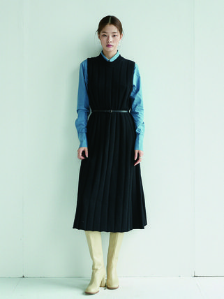 Casual Style Maxi A-line Wool Nylon Blended Fabrics Flared
