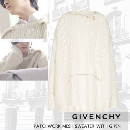 GIVENCHY Sweaters Crew Neck Pullovers Unisex Wool Street Style Long Sleeves