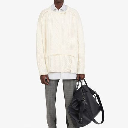 GIVENCHY Sweaters Crew Neck Pullovers Unisex Wool Street Style Long Sleeves 6