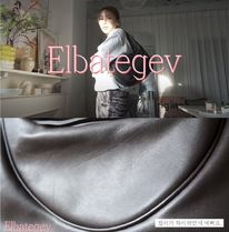 Elbategev Shoulder Bags Casual Style Street Style Plain Leather Office Style 10