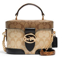 Coach Monogram Casual Style 2WAY Leather Party Style PVC Clothing