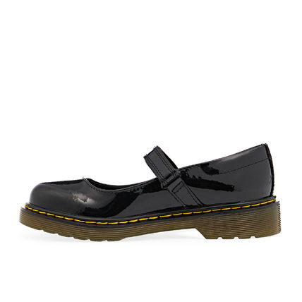 Dr Martens Platform Round Toe Rubber Sole Casual Style Enamel