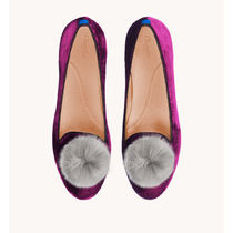 Chatelles More Flats Round Toe Rubber Sole Casual Style Other Animal Patterns 9