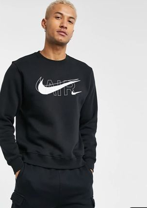 Nike Sweatshirts Crew Neck Street Style Long Sleeves Logo Sweatshirts 4