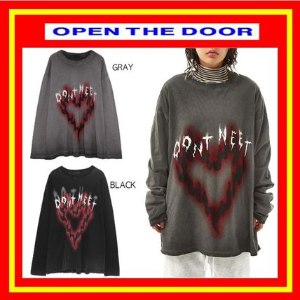 OPEN THE DOOR More T-Shirts Unisex Street Style Oversized T-Shirts