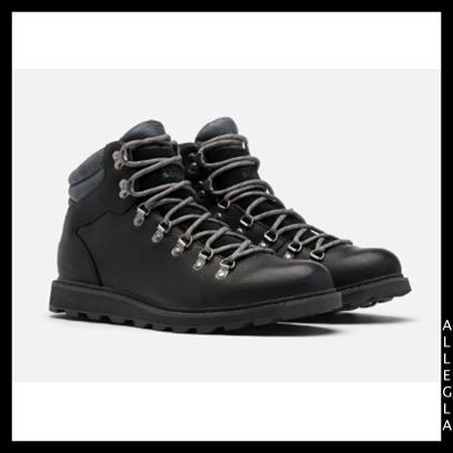 SOREL Plain Toe Mountain Boots Blended Fabrics Plain Leather Logo