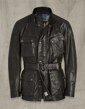 Short Plain Leather Fleece Jackets Biker Jackets