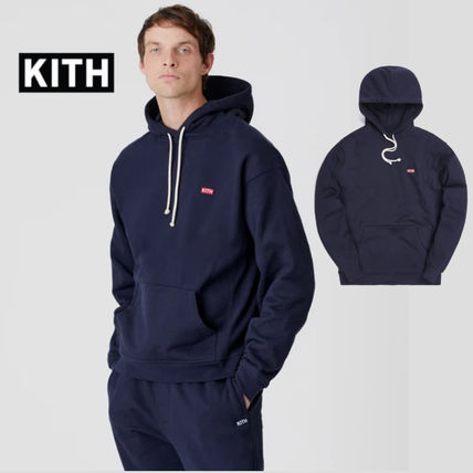 KITH NYC Hoodies Unisex Street Style Long Sleeves Cotton Logo Hoodies