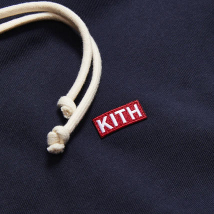 KITH NYC Hoodies Unisex Street Style Long Sleeves Cotton Logo Hoodies 3