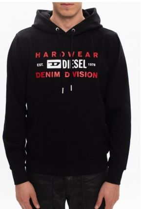 DIESEL Hoodies Blended Fabrics Street Style Long Sleeves Plain Cotton Logo 3