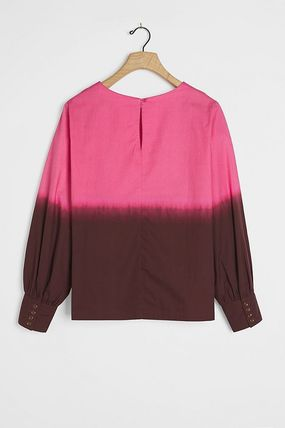 Casual Style Cotton Party Style Elegant Style Puff Sleeves