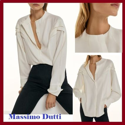 Massimo Dutti Shirts & Blouses Casual Style Long Sleeves Elegant Style Formal Style