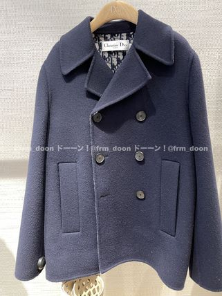 Christian Dior 30 Montaigne Peacoat With Dior Oblique Lining